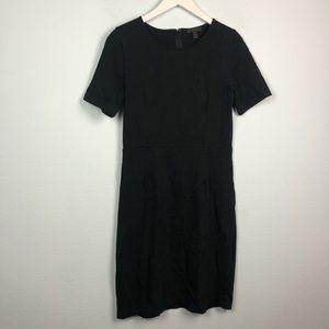 J. Crew Dresses - J. Crew black cotton short sleeve sheath dress